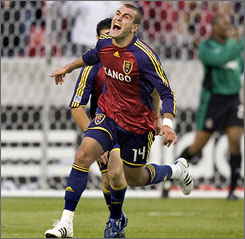 Real Salt Lake's Yura Movsisyan didn't start playing soccer seriously until he moved to the USA when he was 12.
