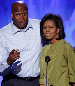 Oregon State men's basketball coach Craig Robinson appears at August's Democratic National Convention in Denver with his sister Michelle Obama, wife of president-elect Barack Obama.