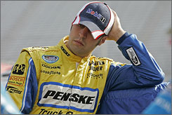 Sam Hornish Jr. has yet to record a top-10 finish in 34 Sprint Cup races this season.