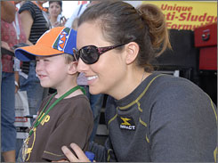 Ashley Force is counting on a hectic weekend at Pomona, but expects to take time out for fans at the NHRA finale.