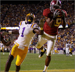 Rashad Johnson made this interception against LSU in overtime to help No. 1 Alabama stay unbeaten.
