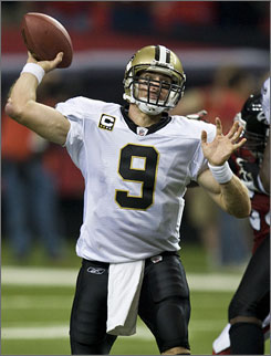 At 332 yards a game, Drew Brees is on track to break the single-season record (5,084).