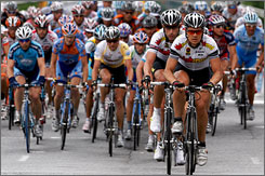 Riders compete in the seventh stage of the 2008 Tour de Georgia -- a race that won't be run in 2009.