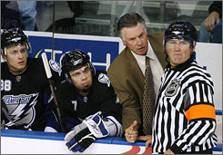 Barry Melrose was fired as head coach by the Tampa Bay Lightning on Friday, just 16 games into the season.
