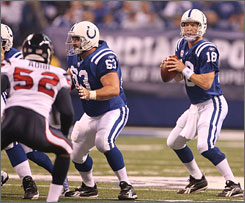 Peyton Manning and the Colts have won three consecutive games to give them a 6-4 record and the inside track to an AFC playoff spot.