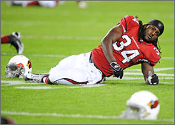 Cardinals RB Tim Hightower was drafted in the fifth round in April, but has supplanted Edgerrin James as the 7-3 team's featured tailback.