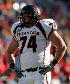 "Texas Tech tackle Ryland Reed says the Red Raiders players enjoy away games. ""It reminds me of the old Thirsty Thursday days in minor league baseball when you get beer thrown at you,"" Reed said. ""I kind of enjoy it."""