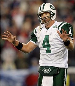 Jets QB Brett Favre.
