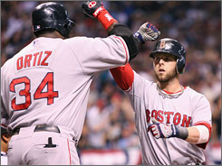 "Only 5-8, Dustin Pedroia was an offensive force for the Boston Red Sox this season, leading the American League in doubles and runs and tying for first in hits. ""No one plays bigger,"" teammate David Ortiz, left, told USA TODAY in September. ""I don't know anyone who loves the game like he does."""