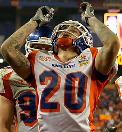 "Former Boise State safety Marty Tadman took the easiest classes when he was in school. ""You're going to school so you can stay in sports,"" Tadman said. ""You're not going for a degree. ... It's a joke."""