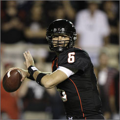 "Texas Tech quarterback Graham Harrell has passed for 36 touchdowns and run for another six this season for the undefeated Red Raiders. ""We've always been viewed by a lot of people as just kind of a middle-of-the-road program,"" said the senior."