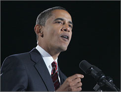 Barack Obama, shown on Election Day, wants the IOC to award the 2016 Summer Games to his hometown, Chicago.