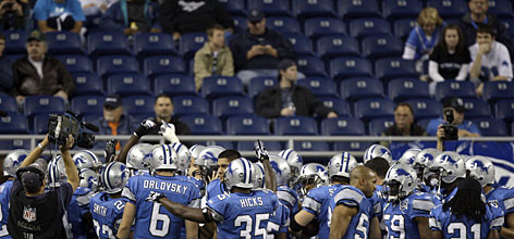 "The 0-11 Lions have played three consecutive home games that have failed to sell out Ford Field. Says kicker Jason Hanson, ""It's humbling and embarrassing. Everybody feels that way. Without finger pointing, everybody in here feels pretty ashamed at this point in the season of having to face people with what we put on the field."""