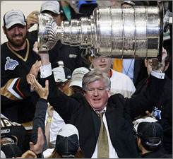 Brian Burke, who lifted the Stanley Cup while with the Anaheim Ducks in 2007, is expected to be named Toronto general manager Friday or Saturday. The Leafs haven't won the Cup since 1967.
