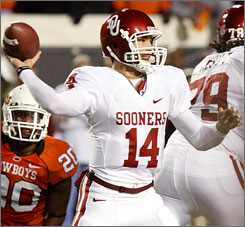 Sam Bradford helped carry Oklahoma to the Big 12 title game with his performance against Oklahoma State.