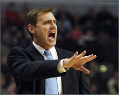 Dallas Mavericks head coach Rick Carlisle yells to his team during a game against the Bulls in Chicago last month.
