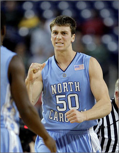 North Carolina forward Tyler Hansbrough was strong against Michigan State, scoring 23 points and pulling in 11 rebounds in UNC's 98-63 win. Hansbrough has missed four games this season due to injuries.