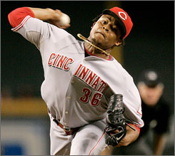 The Reds significantly upgraded their pitching staff last season with the acquisition of 25-year-old Edinson Volquez from the Texas Rangers. Although it cost them slugger Josh Hamilton, the Reds were thrilled with the deal as Volquez went 17-6 with a 3.21 ERA.