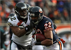 Bears RB Matt Forte broke a Chicago record held by Gale Sayers for most yards from scrimmage by a rookie.