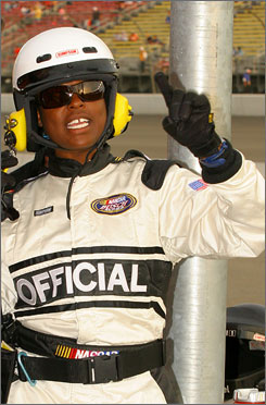 Former Busch Series official Mauricia Grant sued NASCAR for racial discrimination and sexual harassment.
