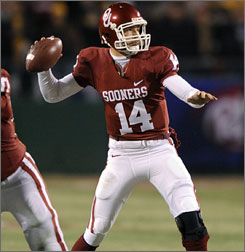 Sam Bradford will be hoping to pass Oklahoma to the national title against Florida.