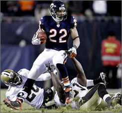 Matt Forte, with a 1,000-yard rushing campaign as a rookie, has solidified the Bears' backfield after it struggled in 2007.