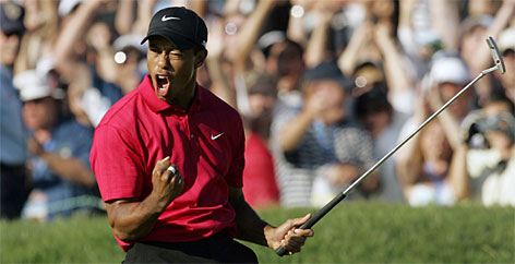 Tiger Woods delivered one of the most dazzling efforts of his career in the U.S. Open, winning an epic battle with Rocco Mediate. It wasn't fully disclosed until after the event, but Woods had been playing with a torn knee ligament for 10 months, then suffered a stress fracture in his left leg.