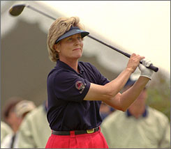 "Betsy King, a Hall of Fame golfer who won 34 LPGA titles and six majors in her career, is focusing her attention on the plight in Africa, including poverty, clean water and AIDS. ""Once you see Africa,"" King said, ""you don't come home the same."""