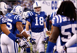 Peyton Manning and the Colts bring an NFL-high nine-game winning streak into the playoffs.