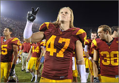 "As a freshman, Southern California's Clay Matthews was ""just not physically ready to match up,"" coach Pete Carroll said, but many sessions in the USC weight room changed that."