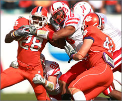 The Nebraska defense held C.J. Spiller to just 18 yards of total offense in the defeat of Clemson.