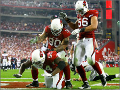 "The Cardinals, dismissed by many analysts as also-rans before Saturday's win, used the prognostication as motivation. ""I want all of y'all to eat all y'all's words,"" defensive end Bertrand Berry said."
