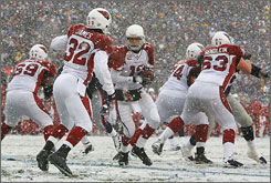 Kurt Warner and the Cardinals lost 47-7 in the snow at New England on Dec. 21. It was a humbling defeat that reinforced how much preparation they needed for the playoffs.