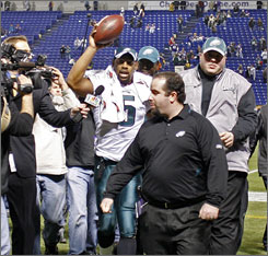 Donovan McNabb and the Eagles are returning to Giants Stadium, where a big win on Dec. 7 helped to resurrect their season.