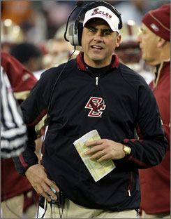 If he doesn't get the Jets job, current Boston College coach Jeff Jagodzinski could be unemployed if the Eagles fire him.
