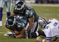 The Eagles' defense forced 58 three-and-out series in the regular season, second best behind the Baltimore Ravens.
