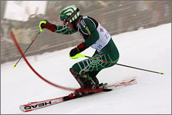 Bode Miller was disqualified from the World Cup slalom event in Croatia on Monday because his boots were too high.