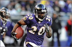 """Ravens safety Ed Reed has 10 interceptions in the past seven games. """"He's the best ballhawking safety I've seen in the NFL in a long time,"""" says former NFL defensive back Rod Woodson."""