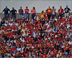 Southern California fans didn't have to travel far to see their team play in the Rose Bowl.