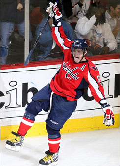 Washington's Alex Ovechkin was named to the NHL's Eastern Conference All-Star Game roster on Thursday.