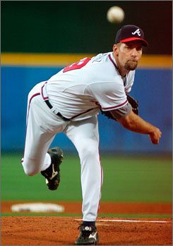 John Smoltz has spent his entire 21-year major league career with the Atlanta Braves, compling a record of 210 wins and 147 losses. In the postseason, he's been even better  going 15-4 with a 2.65 ERA.