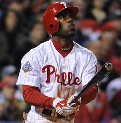 Jimmy Rollins hit .277 with 47 steals last season in helping the Phillies to the World Series title.