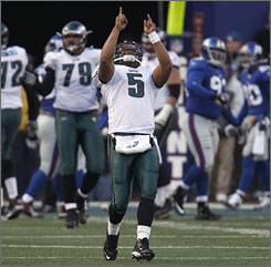 Donovan McNabb's fortunes have changed since he was benched in November and fans called for his exit from Philadelphia.