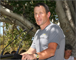Lance Armstrong said his goal at next week's Tour Down Under is to get comfortable racing in the peloton again.