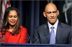 Tony Dungy took the Colts to the playoffs in each of his seven seasons with the team before he retired on Monday.