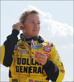 In a difficult economy, Sarah Fisher's team has gained support from Dollar General in 2009.