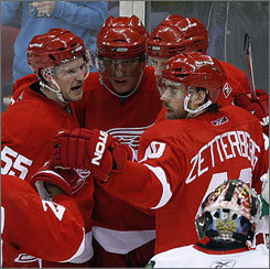 One of these guys won't be with the Red Wings next year. Detroit needs to drop either Henrik Zetterberg, Johan Franzen or Marian Hossa next year due to salary cap problems.