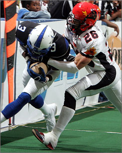 The Arena Football League says it hopes to re-emerge in 2010 from its hiatus.