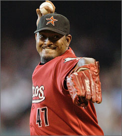 Jose Valverde led the National League in saves in each of the past two seasons, first with Arizona and last season with Houston.