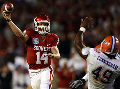 Oklahoma quarterback Sam Bradford will be back for his junior season after winning the Heisman Trophy as a sophomore.